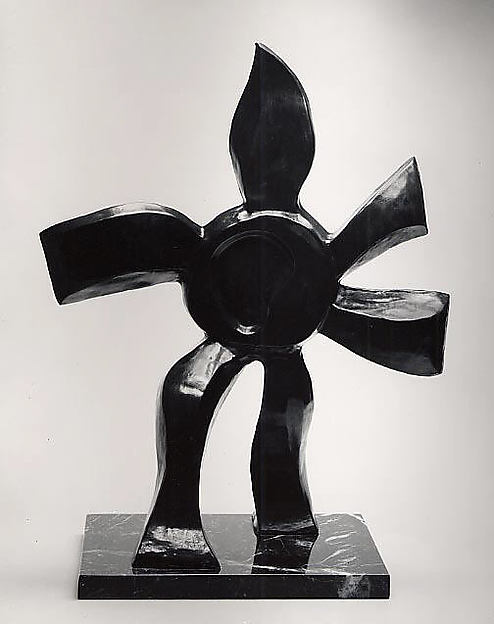 Walking Flower, Fernand Léger (French, Argentan 1881–1955 Gif-sur-Yvette), Bronze and marble