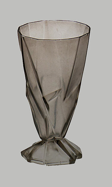 """Ruba Rombic"" Goblet, Reuben Haley (American, Pittsburgh, Pennsylvania 1872–1933 Beaver, Pennsylvania), Glass"