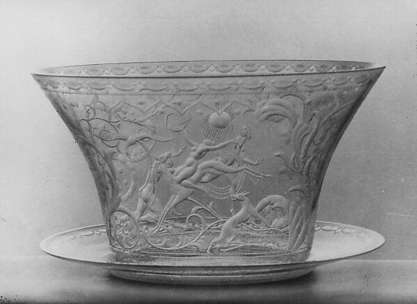 Tray, Simon Gate (Swedish, Södra Fägeläs 1883–1945 Orrefors), White glass