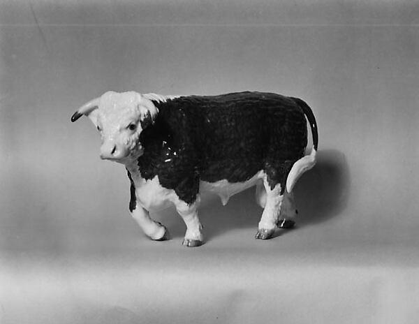 Hereford Bull, Edward Marshall Boehm (American, Baltimore, Maryland 1912–1969), Porcelain