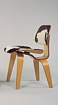 """DCW"" Side Chair, Charles Eames (American, St. Louis, Missouri 1907–1978 St. Louis, Missouri), Birch plywood, ponyskin, rubber mounts"