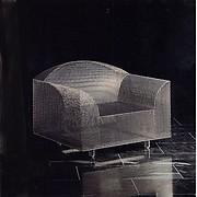 """How High the Moon"" Armchair, Shiro Kuramata (Japanese, 1934–1991), Nickel-plated steel mesh"