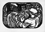 My Role Has Been Important...in the Struggle to Organize the Unorganized, Elizabeth Catlett (Mexican (born United States), Washington, D.C. 1915–2012 Cuernavaca), Linocut