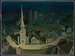 The Midnight Ride of Paul Revere, Grant Wood (American, Anamosa, Iowa 1892–1942 Iowa City, Iowa), Oil on Masonite
