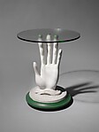 Table, Costa Achillopoulo  , active in England 1930s - 70s, Painted wood, gesso, glass, metal screws