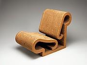 """Contour"" Chair, Frank Gehry (American, born 1929), Corrugated cardboard, Masonite"