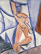 """Nude with Raised Arm and Drapery (Study for """"Les demoiselles d'Avignon"""")"""