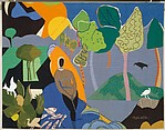 "Tapestry ""Recollection Pond"", Romare Bearden (American, Charlotte, North Carolina 1911–1988 New York), Wool and cotton"