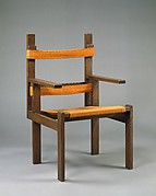 Armchair, Marcel Breuer (American (born Hungary) 1902–1981), Oak, wool upholstery