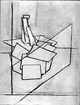 Untitled (still life), Basil Cimino (American, 1913–1966), Charcoal on paper