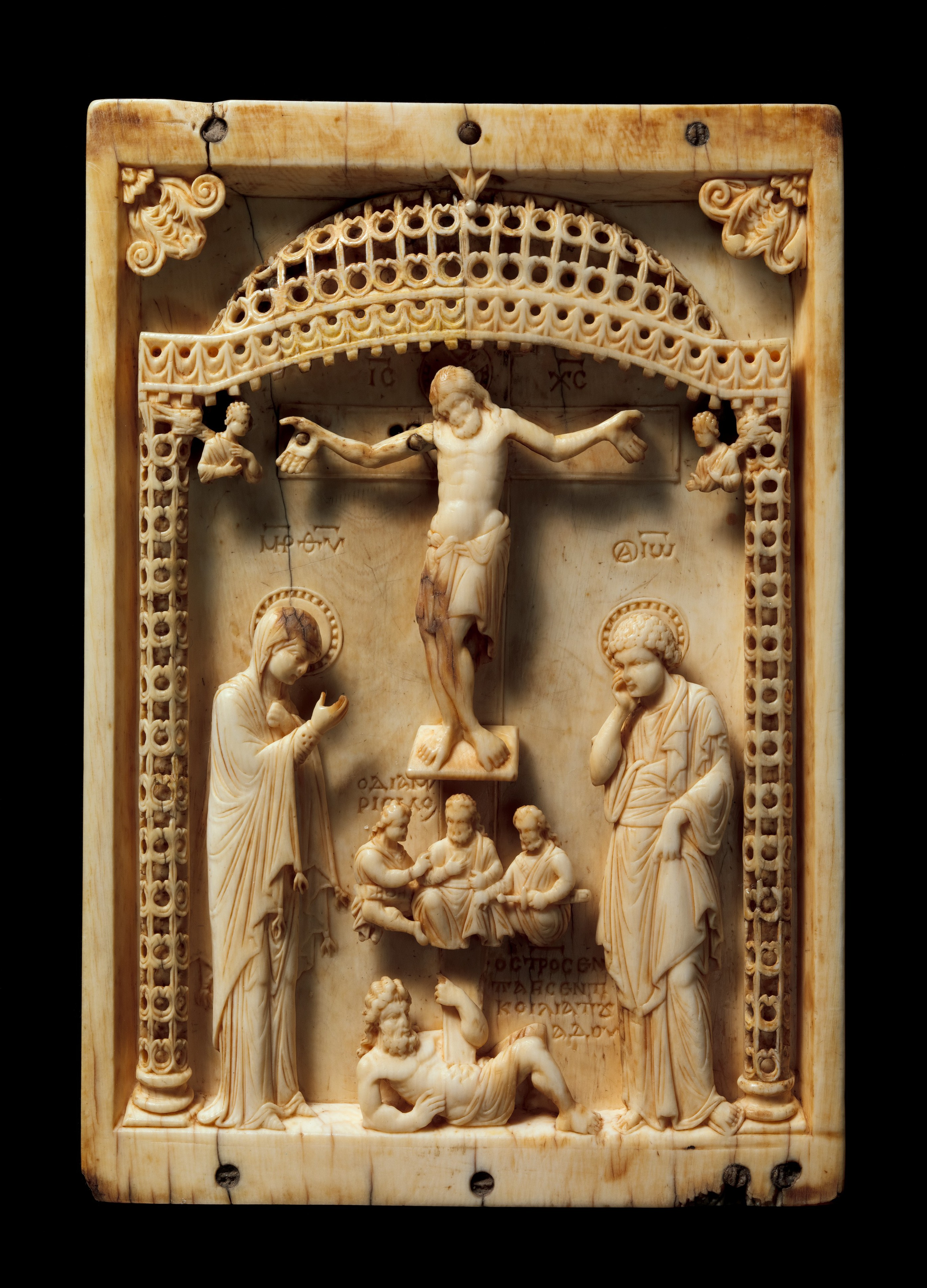 Icon With The Crucifixion Byzantine The Met