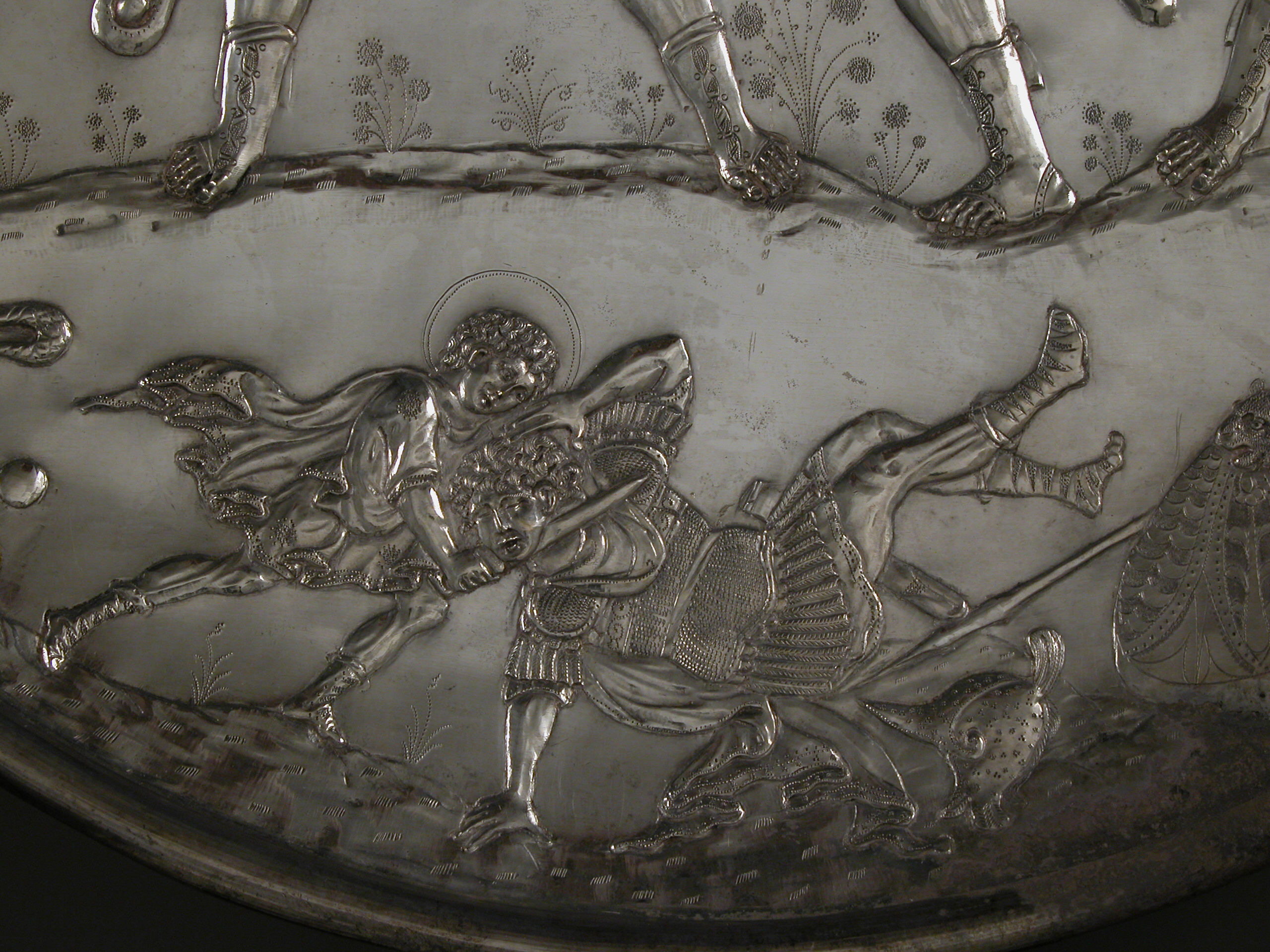 Plate with the Battle of David and Goliath | Byzantine ...
