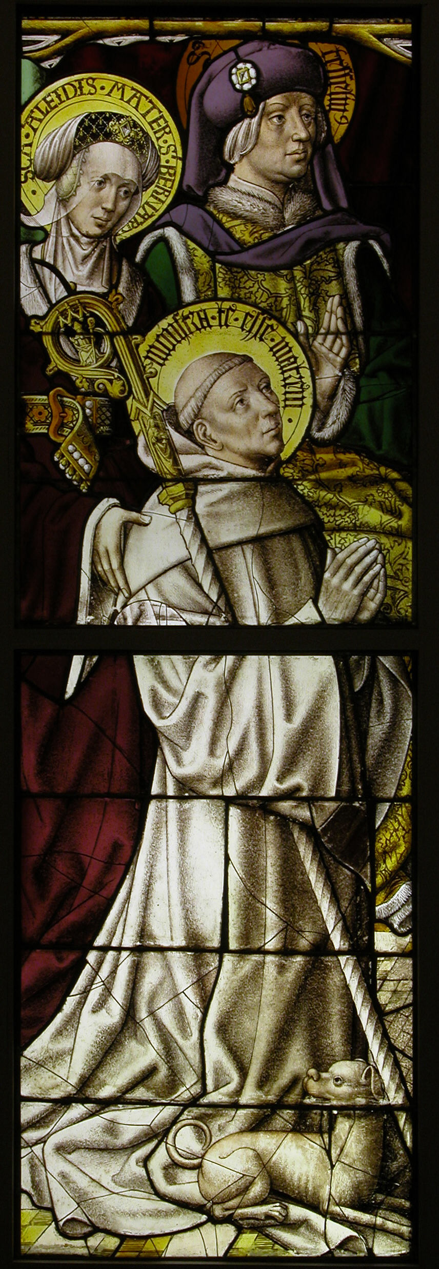Stained Glass Panel With St Bernard German The Met