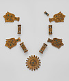 Elements from a Necklace, Gold, cloisonnè enamel, Spanish