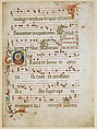 Manuscript Leaf with a female saint (possibly Dorothy) in an Initial G, from a Gradual, Attributed to the Illustratore (active 1330–1374), Tempera, ink, and gold on parchment, Italian