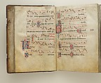 Gradual, Tempera and ink on parchment, with oak and tooled leather binding, Italian