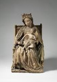 Virgin and Child, Limestone, traces of polychromy, French
