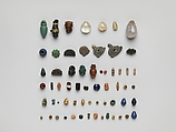 Beads and Amulets, Glass, faience, stone, bone, metal, and rock crystal, Coptic