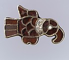 Bird-Shaped Brooch, Gold, garnet, glass, pearl, Frankish