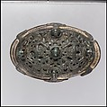 Oval Brooch, Copper alloy, gilt, Viking