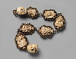 Rosary, Ivory, silver, and partially gilded mounts, German