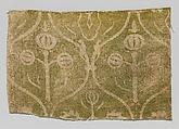 Fragment of Printed Linen, Linen, German