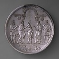 Plate with David Anointed by Samuel, Silver, Byzantine
