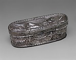 Box with Sleeping Eros, Silver, Roman or Byzantine