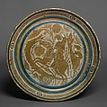 Bowl with a Horseman Spearing a Serpent, Tin-glazed earthenware, Spanish