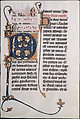 Manuscript Leaf with Initial M, from a Missal, Tempera and gold on parchment, French