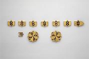 Horse Bridle or Belt Ornaments, Gilt copper or copper alloy and cloisonné enamel, Spanish