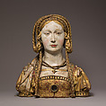 Reliquary Bust of Saint Balbina, Oak, paint, gilt, South Netherlandish