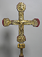 Processional Cross, Silver-gilt, wood, Spanish