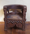 Chair, Pine, walnut and lime, Italian