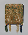 Pouch (Forel), Silk and metal thread on canvas., French