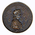 Medal, Louis XII & Anne Of Brittany, Copper alloy, French