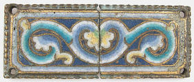 Plaque from a Reliquary Shrine, Champlevé enamel, copper alloy, gilt, German
