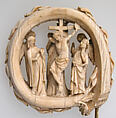 Head of a Crozier with the Virgin and Child and Angels, Ivory with traces of paint, French