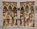 Diptych with Scenes from the Life of Christ, Ivory with metal mounts, German