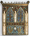 Part of a Reliquary, Copper-gilt, enamel, ivory, cabochons, cameos, French