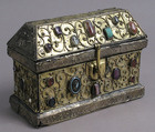 Chasse, Silver-gilt, wood, gems, intaglio, cameo over wood core, German