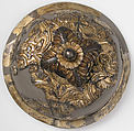 Vessel Cover, Silver, partial gilt, niello, Carolingian