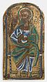 Plaque of St. Bartholomew, Champlevé enamel, copper-gilt, Lower Rhenish or Saxon