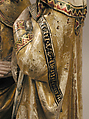 The Visitation, Attributed to Master Heinrich of Constance (German, active in Constance, ca. 1300), Walnut, paint, gilding, rock-crystal cabochons inset in gilt-silver mounts, German