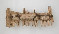 Double-Sided Comb, Bone, iron pins, Frankish