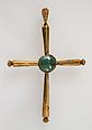 Pendant, Latin Cross, Gold, emeralds, Byzantine