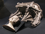 Canopy from the tomb of Philip III (the Bold) of France (1245-1285), Jean d'Arras (French, active 1297–1307), Marble, French