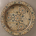 Dish, Tin-glazed earthenware, Spanish