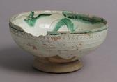 Bowl, Earthenware, tin-glaze, Italian or Byzantine