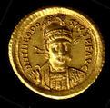 Gold Solidus of Theodosius II (408–50), Gold, Byzantine